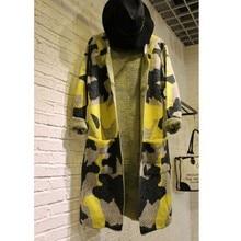 Long Sleeve Sweater Women Autumn Winter Fashion Coat New Camouflage Long Knitted Female Cardigan Women s