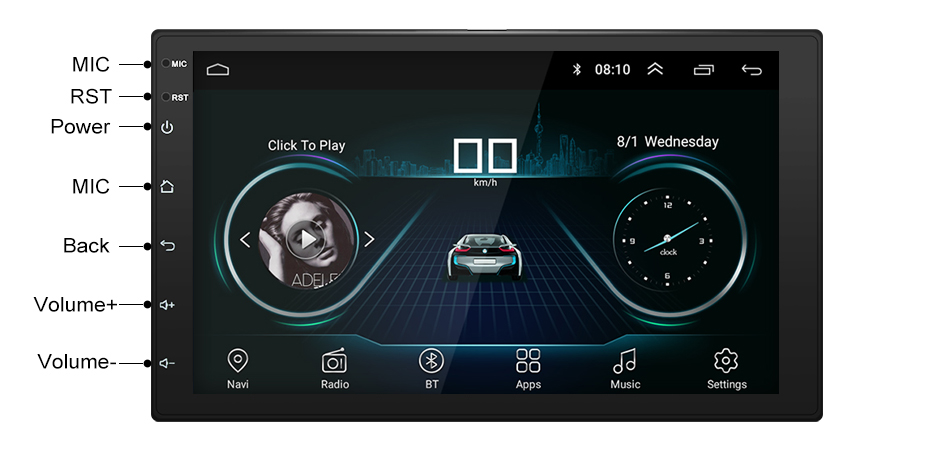 Stereo THREECAR Navigation AM 17