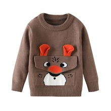 Boys Girls Sweaters Cartoon Baby Girl Sweater jumper Autumn Winter Knitted Pullover Turtleneck Warm Outerwear Kids Sweater 1-6Y children autumn and winter warm clothes kids boys and girls thick sweaters fleece turtle neck baby girl sweater 1 5 years