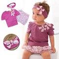 Baby Rompers 2017 Лето Девочка Одежда Наборы Симпатичные Новорожденных детская Одежда Roupas Bebe Младенческая Baby Dress Детская Одежда