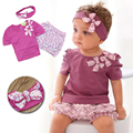 Baby Rompers 2017 Summer Baby Girl Clothing Sets Cute Newborn Baby Clothes Roupas Bebe Infant Baby Dress Children Clothing
