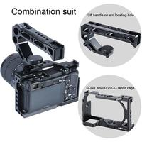 UURig for Sony A6400 Camera Cage+Camera Cold Shoe Handle Grip kit,with Arri Locating Screw Rotating Screw External Monitor Mic