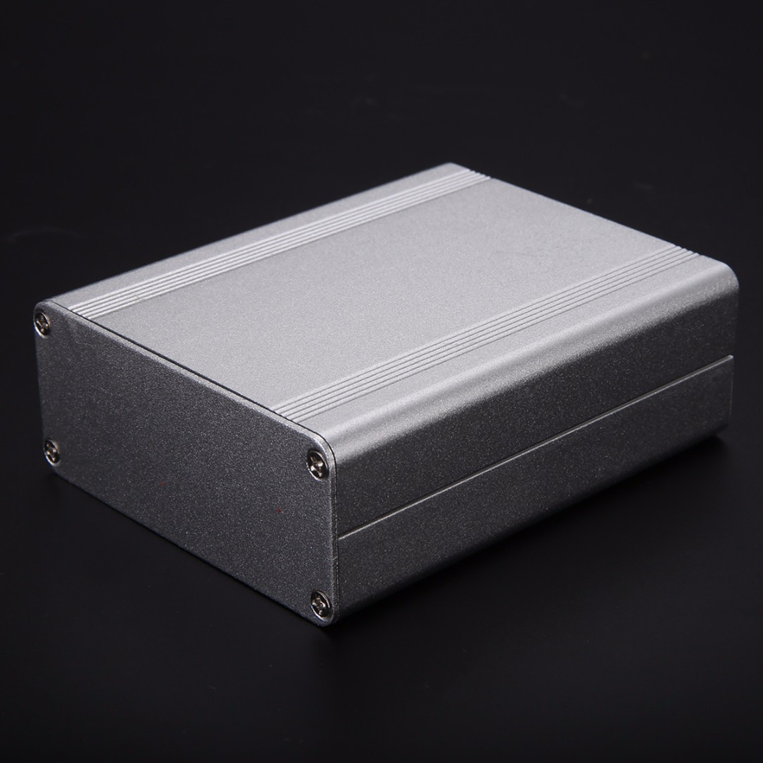 Silver Extruded Aluminum Enclosure Box Split Body Electronic Project Instrument Case 110x88x38mm For Holding Circuit Board extruded aluminum enclosure case electronic project diy pcb instrument box for holding circuit board 100x100x50mm