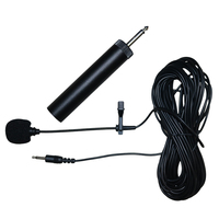 UK 10AX Musical Instruments Condenser Lavalier Microphone Lapel Tie Clip Mic For Guitar Voice Amplifier Speaker