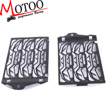 Motoo - free shipping Radiator Water Cooled Grill Guard Cover Black For  BMW R1200GS GSA ADV 2013-2016