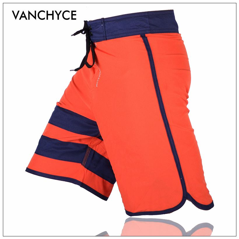 VANCHYCE Solid Men' Shorts Beach Shorts Men Bermuda Short Quick Dry Silver Men's Boardshorts Board Shorts Brand Swimwear Men