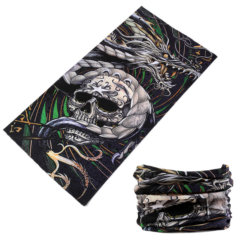 Shemagh Military Skull Design Face Shield Sport Neck Mask Cycling Bandana 2018 Magic Men Scary Hunting Headwear Bicycle Scarves