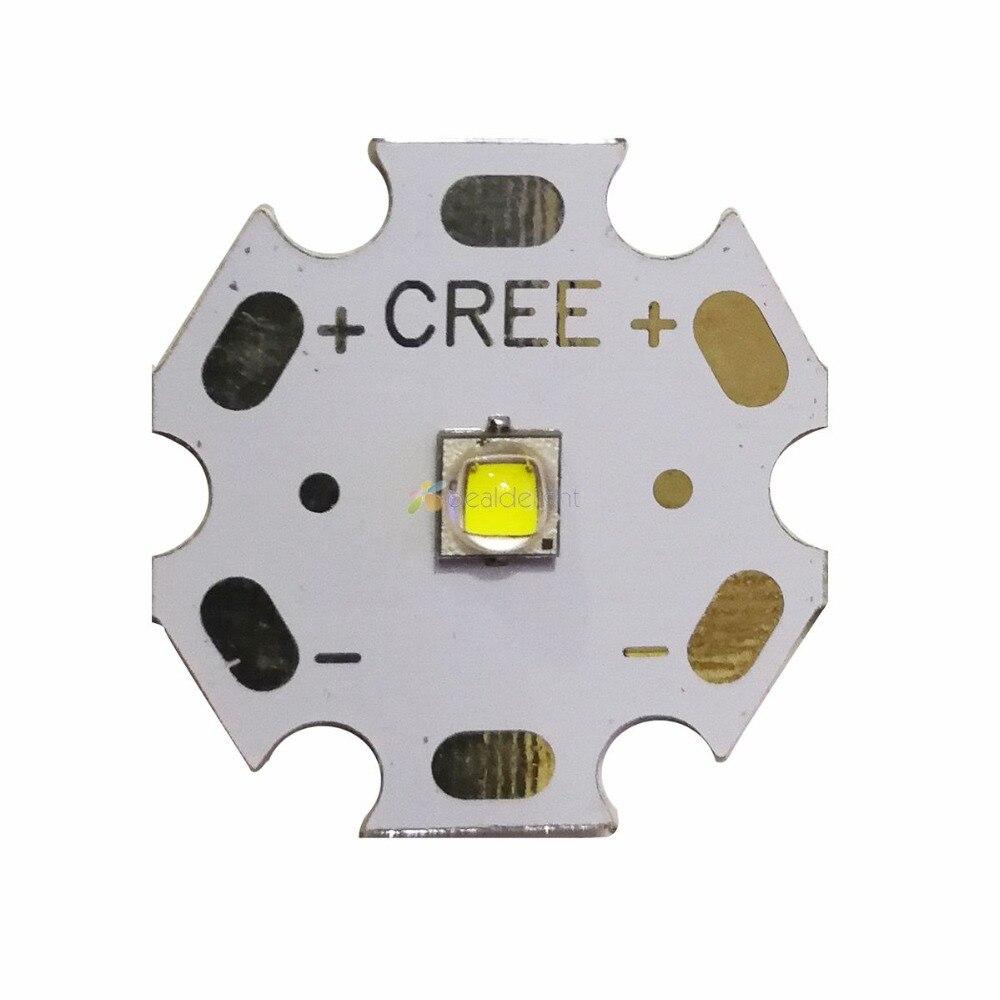 10PCS Cree XLamp XPG2 XP-G2 R5 Cool White 1W~5W 490LM LED Light Lamp Bulb With 20mm Star PCB Free Shipping