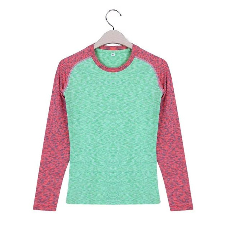 Women long sleeve tights stretch fast dry running training basketball fitness T-shirt riding a basketball game