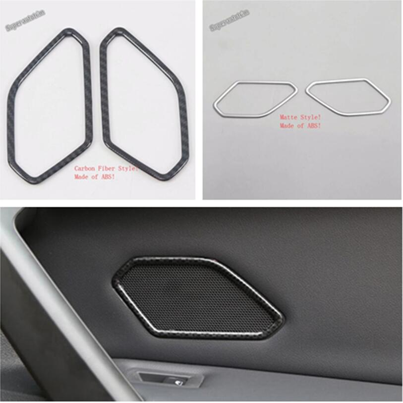 Car & Truck Parts Stainless Interior Car Door Speaker Cove Trim for Volkswagen VW Tiguan 2017-2018 Auto Parts & Accessories