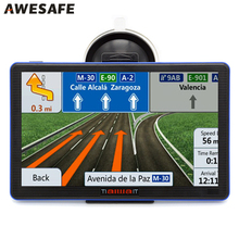 HD 7 inch Portable Car GPS Navigation FM 8GB 256M 800MHZ Car Navigator Map For Europe