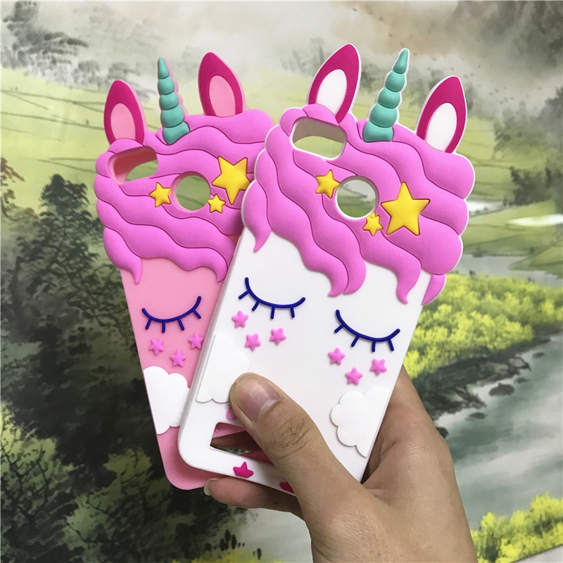 3D Cartoon Unicorn Horse Rabbit Bunny Case For Xiaomi 4C Redmi 3 Pro 3S 3X 4A 4X 5A Cases Soft Silicone Back Cover For Redmi 4X
