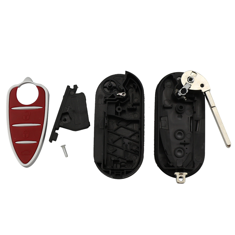 YIQIXIN Flip Folding 3 Buttons Remote Car Key Shell Fob Fit For Alfa Romeo Mito Giulietta GTO 159 Automotive Car Key Red in Car Key from Automobiles Motorcycles