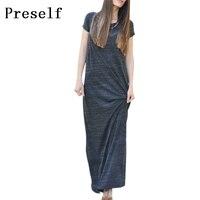 2015 New Women Ladies Fashion Short Sleeve T Shirt Loose Casual Maxi Long Dress