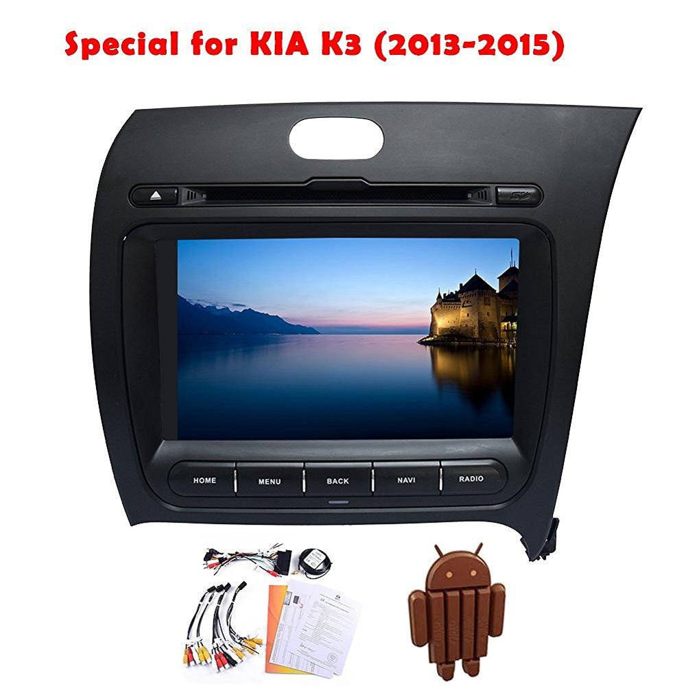 Android 4.4 kitkat car dvd player gps for Kia K3 2013-2015 bluetooth wifi gps navigation map am/fm radio steering wheel control ...