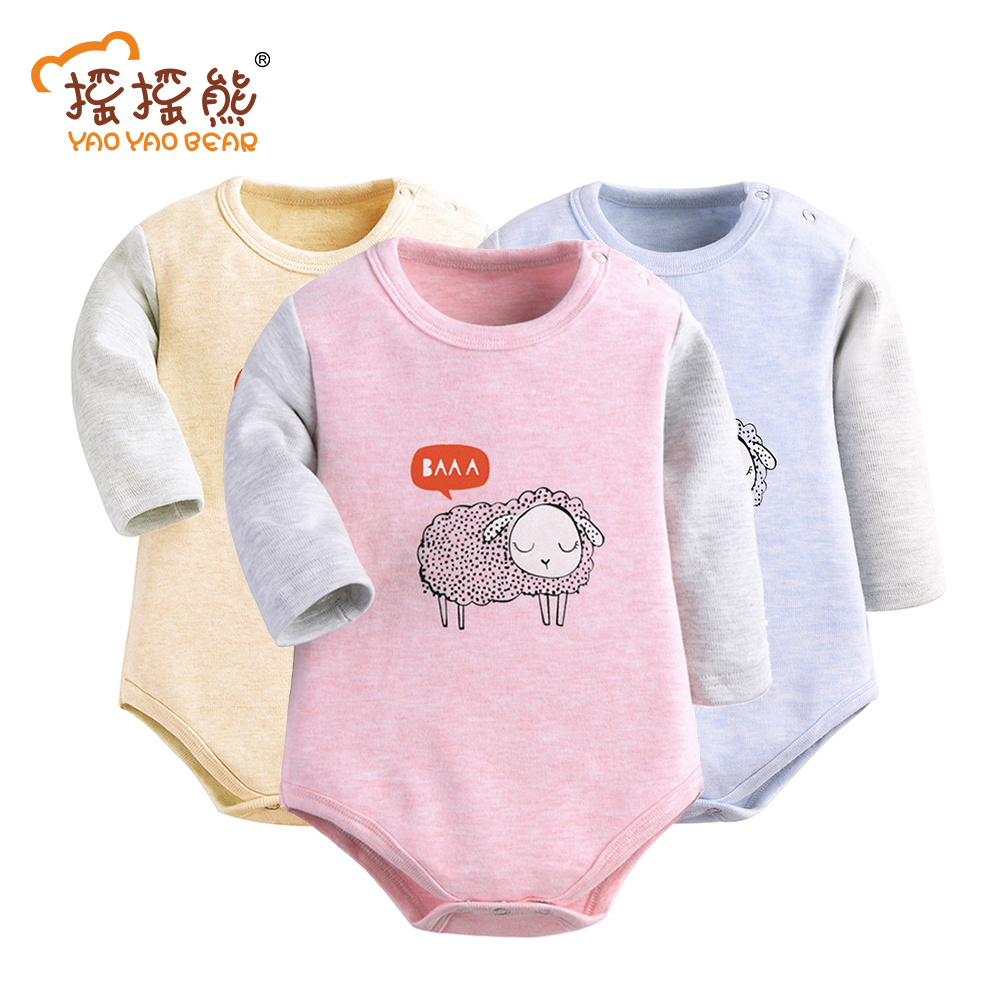 Sheep Print be Body Baby Bodysuits for Children Baby Boy Girl Clothes Cotton Bodysuit baby clothes 3pcs/lot ...
