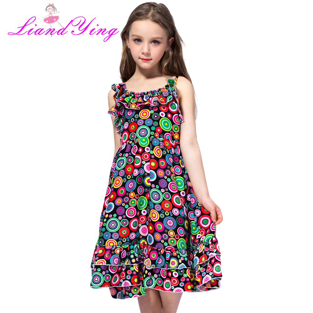 Fashion New 2018 Bohemian Print Girls Dress Summer Dresses Beach Strap Baby Dress Child Kids Dresses For Girls Clothes -in Dresses from Mother & Kids on Aliexpress.com   Alibaba Group