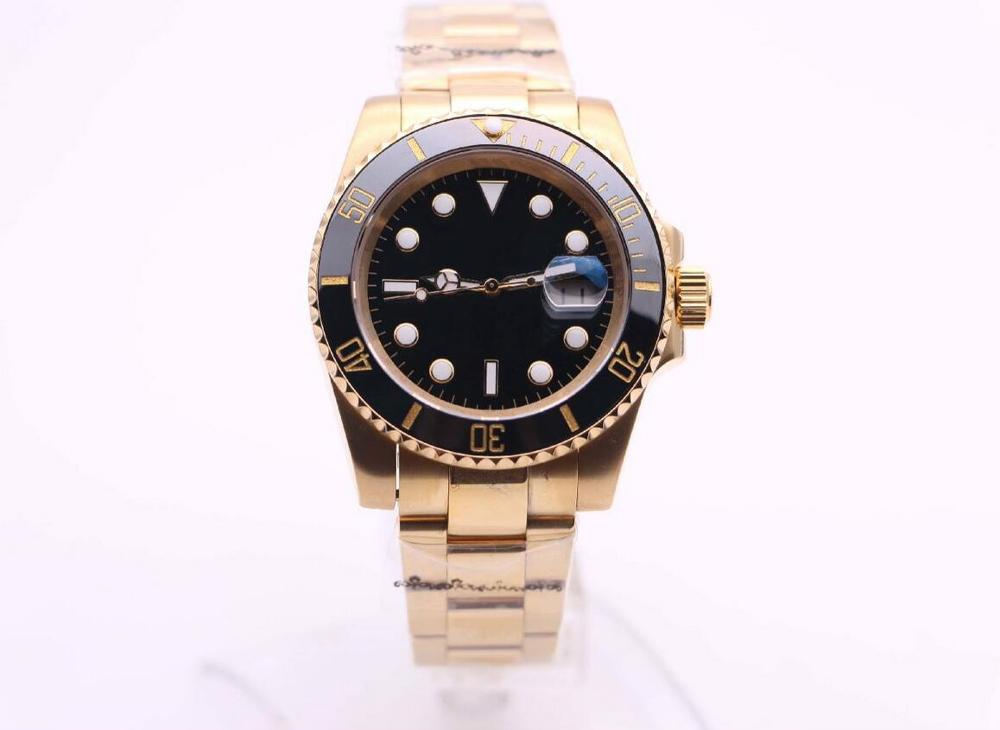 116610 Male 40mm Series High Quality AAA+ 18k Sapphire Automatic Mechanical Watches Ceramic Bezel Subdiving Gold Top Watch(China)