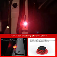 2 pieces Magnetically Induced Flash Warning Lamp for Automotive Door for Buick regal excelle encore lacrosse emblem accessories(China)