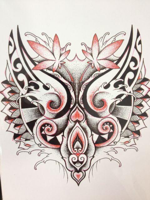 2016 Moda Tatuagem Simples Vermelho e Preto Sexy Cool Beleza Tatuagem  Temporária Tatuagem Adesivos À Prova 4706c4e80649