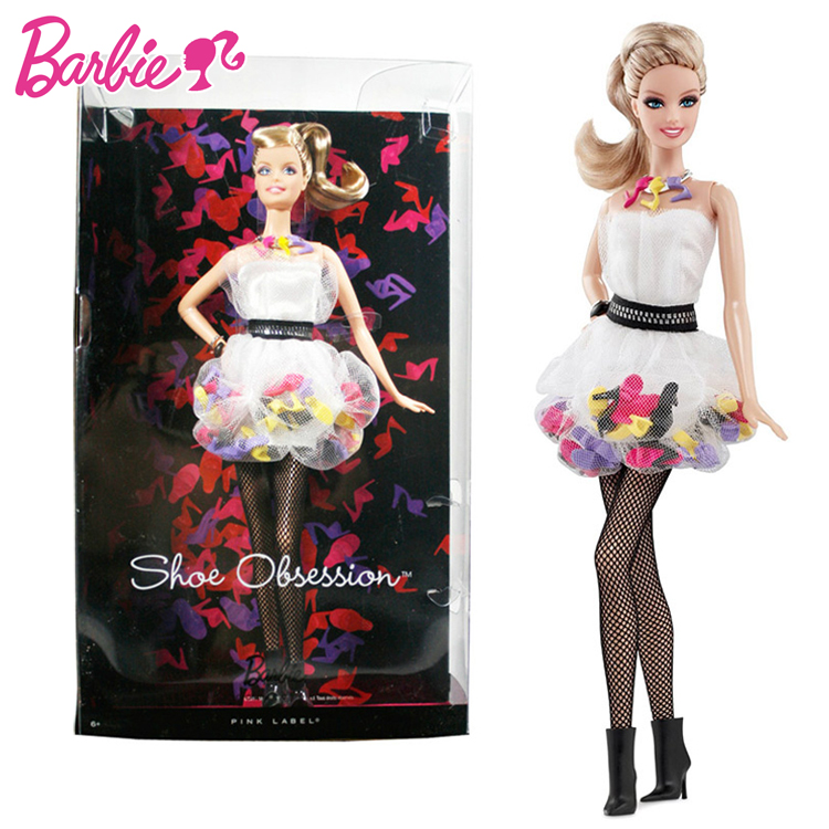 Original Barbie Limited Collection Shoe Obsession Doll Version For Children Baby Birthday Gift Toys For Girl