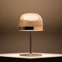 Италия Роза Золотая настольная лампа креативные аппаратные средства стеклянная настольная лампа спальня кровать лампа гостиная отель меб