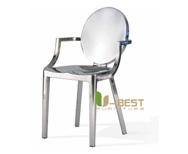 Free Shipping U Best Newest Design Whole Round Back Kong Metal Stainless Steel Dining Chair
