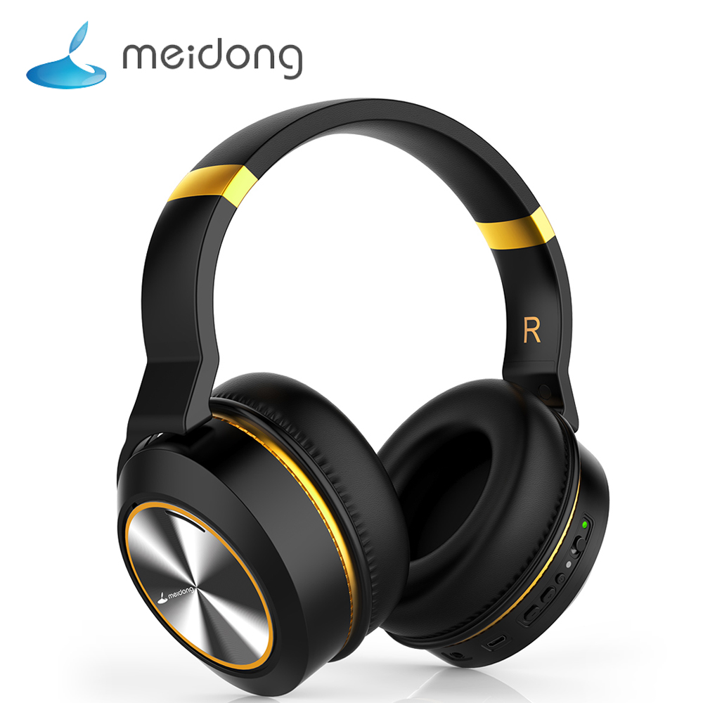 Meidong E8 Wireless Earphone ANC Active Noise Cancelling Bluetooth Headphones Over-Ear Bluetooth Headset with Microphone