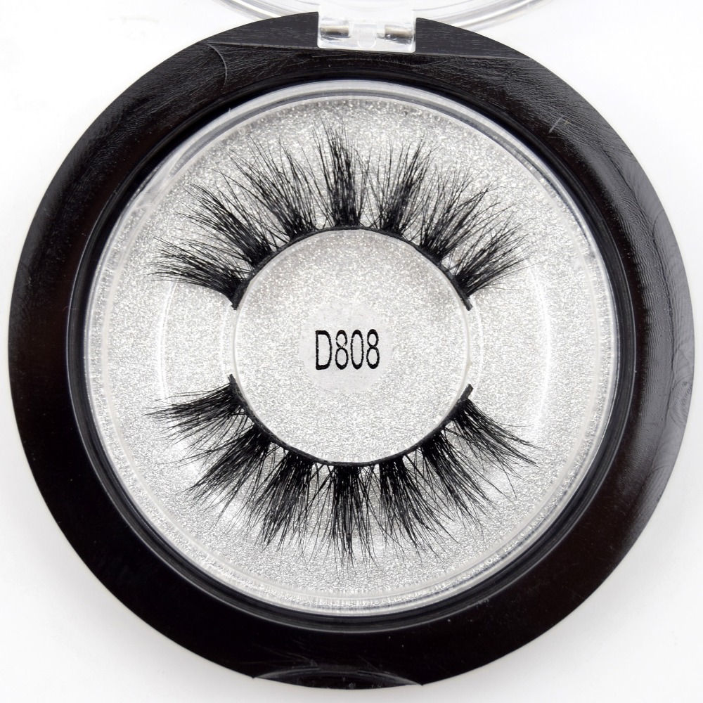 Visofree Mink Eyelashes 3D Mink Lashes Dramatic Eye Lash Handmade Cruelty-free Mink Lashes False Eyelashes Makeup Lashes D808