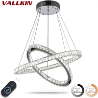 Dimmable LED Contemporary Pendant Lamps Chandeliers Indoor Crystal Chandeliers Luxry Lamp Fixtures For Restaurants Dining Room