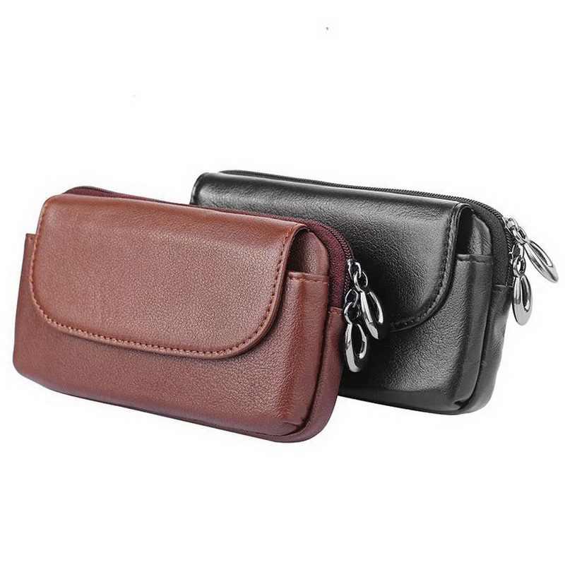 bilder für Echtes Leder Universal Tasche Für Motorola Moto G4 G4 Spielen Gürtel Clip Holster Echtledertasche Für Moto X Play X Stil tasche