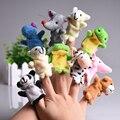 5 unids/set Lindo Animal Marioneta de Dedo Juguetes de Peluche de Dibujos Animados Bebé Niño Favor Regalos Doll Para Niños Educación Familia Biológica Juguete Del Dedo