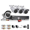 SANNCE HD 8CH CCTV HDMI DVR 4PCS 1200TVL Home Security Silver Bullet Camera Video Surveillance System Kit 1TB