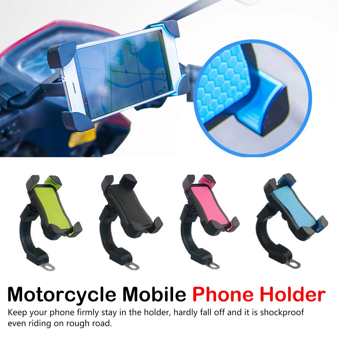 Rear View Mirror Moto mobile Support Motorcycle Mobile Phone Holder Stand Motorcycle Phone Holder(China)