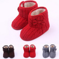 2016 New Style Newborn Baby Unisex Boys Girls Kids Prewalker Winter Super Warm Boots Infant Toddler Bow Knitted Shoes Booties