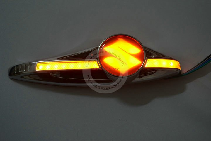 New Led Turn Signals Light With Suzukii Logo For Car