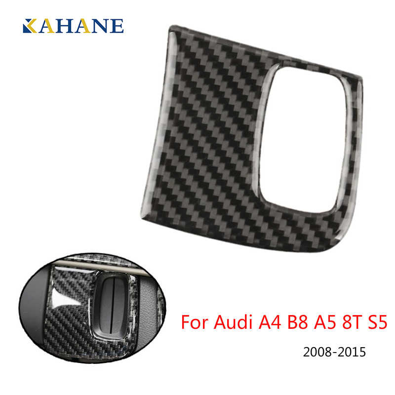 Car Accessories For Audi A4 B8 A5 8T S5 2008 2009 2010 2011 2012 2013 2014 2015 Carbon Fiber Engine Start Key Frame Cover Trim