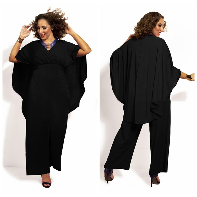 83eacc7e97c Bodycon Jumpsuit Real Plus Size Jumpsuits And Rompers For Women Hot Sale  2017 Of Tall Waist Fashion Sexy Deep V Net Color Shawl