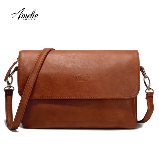 AMELIE GALANTI Crossbody Shoulder Bags for Womens 2018 PU Leather Messenger Bags Luxury Ladies Hand Bag Designer with Two Straps