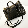 INLEELA Weave Women Messenger Bags Retro Women Bag High Capacity Women Leather Handbags Large Shoulder Bag Bigger Than A4