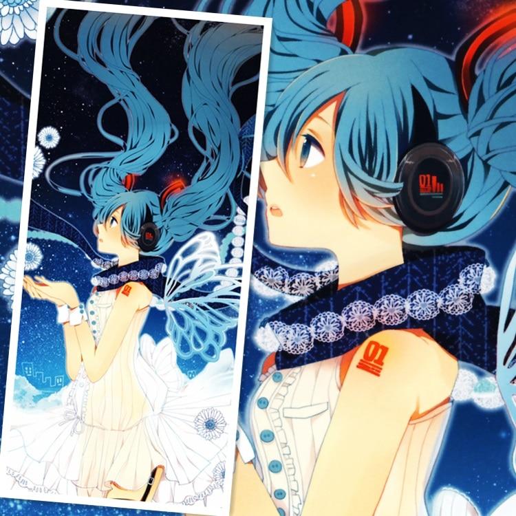 45X95CM Vocaloid Hatsune Miku Japan Moe Cartoon Anime print wall picture mural poster art cloth scroll