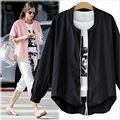 XL-5XL Плюс Размер Европейский Женщины Негабаритных И Пиджаки Одежда Осень Женщины Розовый Куртки Тонкий Офис Леди Верхней Одежды Куртки Пальто