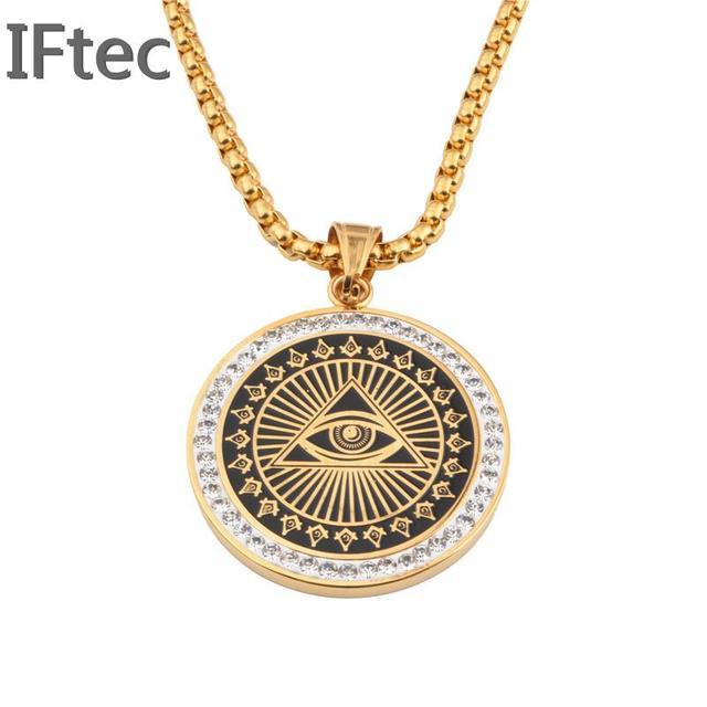 Freemason masonic mason illuminati all seeing eye replica coins freemason masonic mason illuminati all seeing eye replica coins pendant necklace hip hop men women mozeypictures Gallery