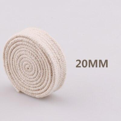 5yd/лот высокопрочный натуральный цвет 3ply круглый плоский канат хлопок шнуры для дома ручной работы аксессуары для одежды проекты рукоделия - Цвет: flat 20mm