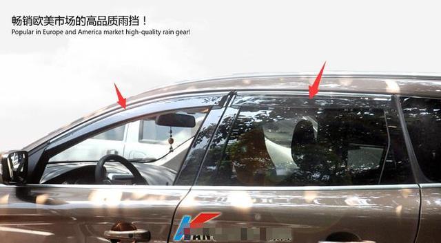 Exterior! ventana Toldos Viseras Deflector de Viento Lluvia Visera Guardia Vent 4 Unids Para Volvo XC60 2014