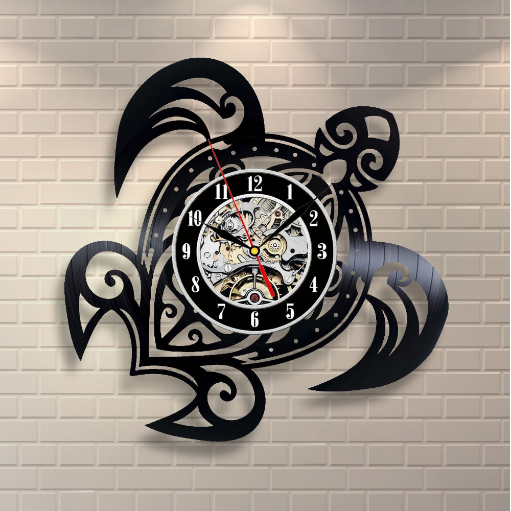 Disco de vinilo Clásico Reloj Relojes de Pared de Cuarzo Mecanismo ...