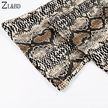 ZL&BD Sexy Club Outfits Women 2 Piece Set Snake Print Flare Sleeve Tops and Flare Pants Set 2018 Autumn Femme Tracksuit ZA1124