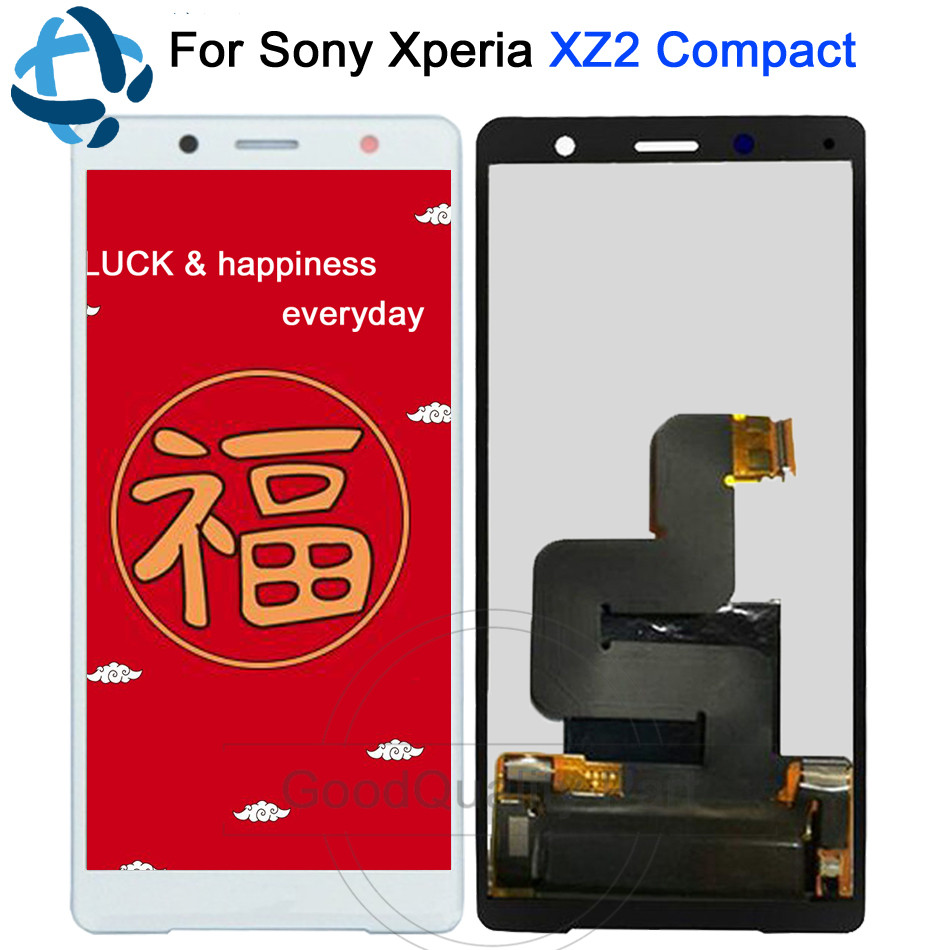 100% Tested New For Sony Xperia XZ2 Compact LCD Display Touch Screen Digitizer 5.0For Sony XZ2 Mini LCD Assembly Replacement 100% Tested New For Sony Xperia XZ2 Compact LCD Display Touch Screen Digitizer 5.0For Sony XZ2 Mini LCD Assembly Replacement