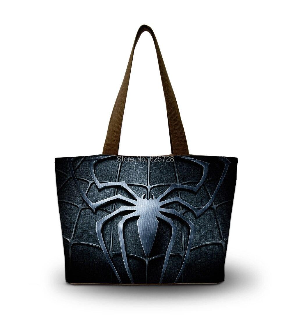 2016 Spider Design Fashion Women Ladies Canvas Messenger Shoulder bag Tote Shopping Bag Handbag Mom