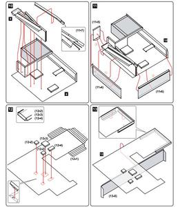 Image 5 - Craft Paper Model Le Corbusier Villa Savoye  3D Architectural Building DIY Education Toys Handmade Adult Puzzle Game